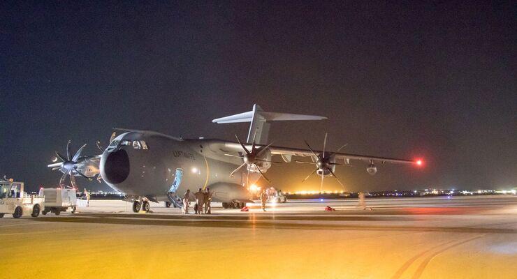Airbus A400M der Luftwaffe als Tanker nach Jordanien
