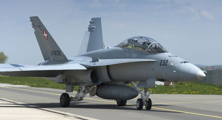Boeing F/A-18D der Schweizer Luftwaffe.