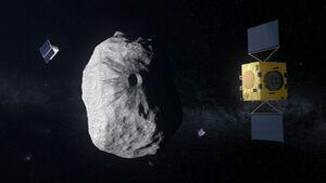 Die europäische Hera-Mission soll den Einschlag und die anschließende Bahnveränderung auf dem Asteroiden Didymoon untersuchen.