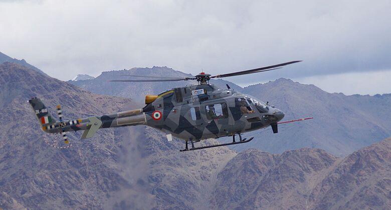 Hindustan Aeronautics LUH bei Tests im Himalaya.