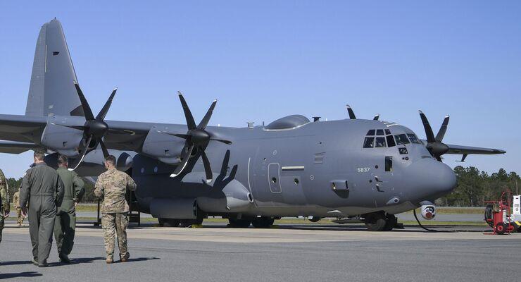 Lockheed Martin AC-130J Ghostrider der 4th SOS in Hurlburt Field, Florida.