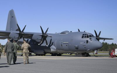 Lockheed Martin AC-130J Ghostrider der 4th SOS in Hurlburt Field, Florida.