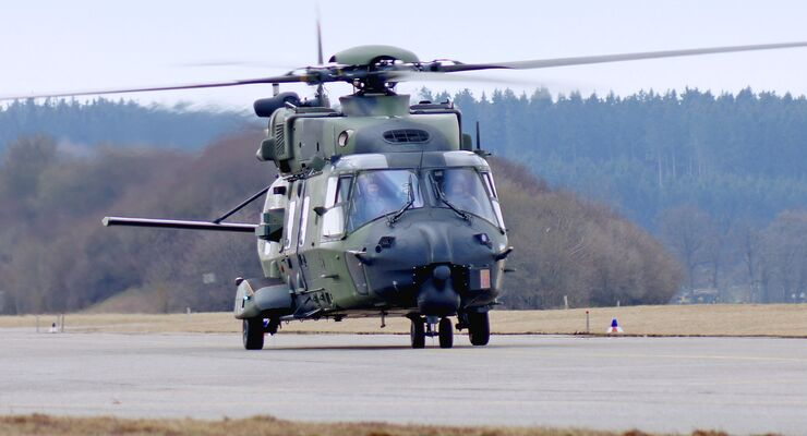 NH90 der Heeresflieger bei RUAG in Oberpfaffenhofen.